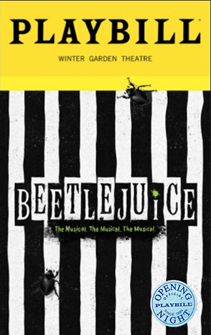 Beetlejuice Limited Edition Official Opening Night Playbill