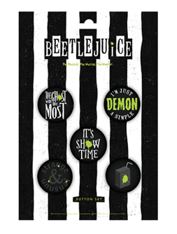 Beetlejuice the Broadway Musical Button Set