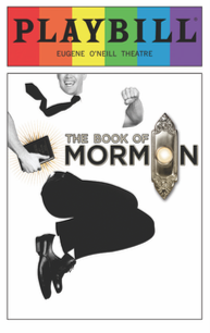 Book of Mormon - June 2017 Playbill with Rainbow Pride Logo