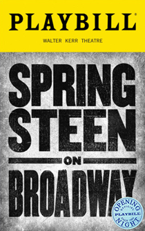 Springsteen On Broadway Limited Edition Official Opening Night Playbill