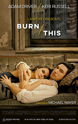 Burn This the Broadway Play Poster