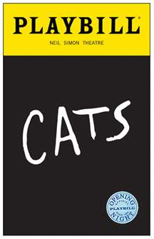 Cats the Musical Limited Edition Official Opening Night Playbills 2016