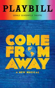 Come From Away - June 2018 Playbill with Rainbow Pride Logo