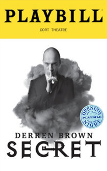 Derren Brown: Secret Limited Edition Official Opening Night Playbill