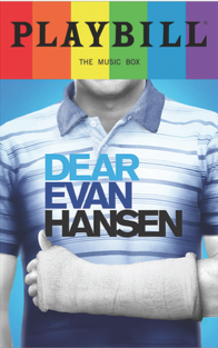 Dear Evan Hansen - June 2017 Playbill with Rainbow Pride Logo