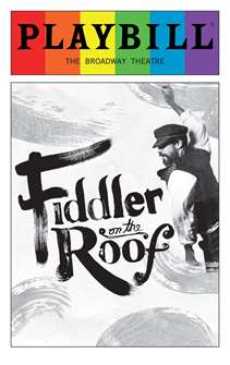 Fiddler on the Roof - June 2016 Playbill with Rainbow Pride Logo