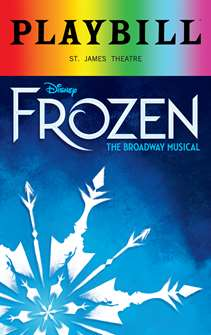 Frozen - June 2018 Playbill with Rainbow Pride Logo