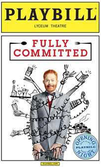 Fully Committed Limited Edition Official Opening Night Playbill