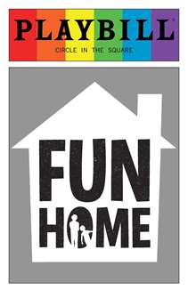 Fun Home - June 2016 Playbill with Rainbow Pride Logo