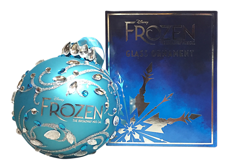 Frozen the.Broadway Musical Glass Ball Ornament