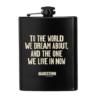 Hadestown the Broadway Musical Flask