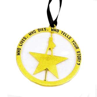 Hamilton the Broadway Musical Ornament