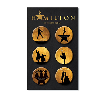 Hamilton the Broadway Musical Button Card