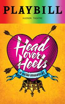 Head Over Heels - June 2018 Playbill with Rainbow Pride Logo