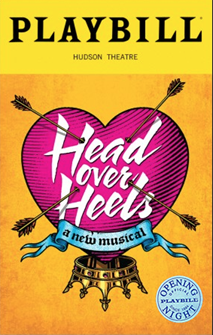 Head Over Heels the Broadway Musical Limited Edition Official Opening Night Playbill