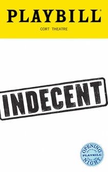 Indecent the Broadway Play Limited Edition Official Opening Night Playbill