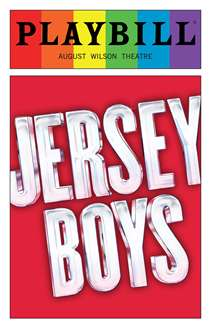 Jersey Boys - June 2016 Playbill with Rainbow Pride Logo