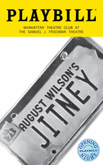 August Wilsons Jitney Limited Edition Official Opening Night Playbill
