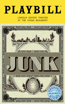 Junk Limited Edition Official Opening Night Playbill