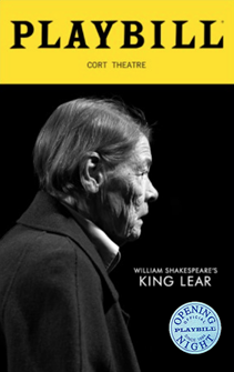King Lear on Broadway Limited Edition Official Opening Night Playbill (2019)