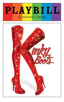 Kinky Boots - June 2016 Playbill with Rainbow Pride Logo