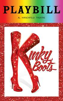Kinky Boots - June 2018 Playbill with Rainbow Pride Logo