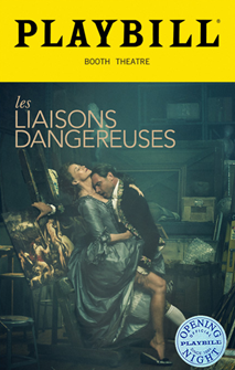 Les Liaisons Dangereuses Limited Edition Official Opening Night Playbill (2016 Revival)
