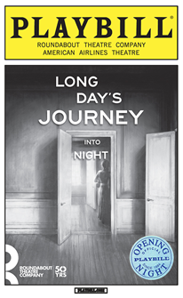 Long Days Journey Into Night Limited Edition Official Opening Night Playbill