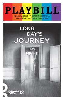 Long Days Journey Into Night - June 2016 Playbill with Rainbow Pride Logo