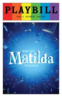 Matilda - June 2016 Playbill with Rainbow Pride Logo