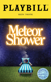 Meteor Shower Limited Edition Official Opening Night Playbill