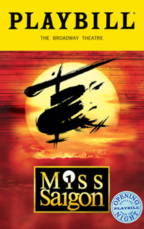 Miss Saigon The Broadway Musical Limited Edition Official Opening Night Playbill (2017 Revival)
