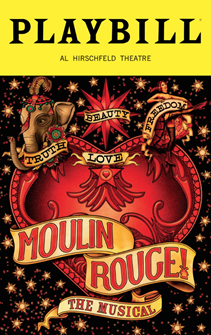 Moulin Rouge! the Broadway Musical Special February Edition Playbill