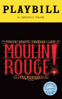 Moulin Rouge! Limited Edition Official Opening Night Playbill