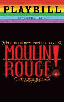 Moulin Rouge! - June 2019 Playbill with Rainbow Pride Logo