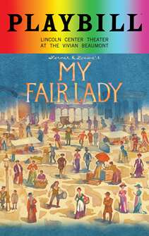 My Fair Lady - June 2018 Playbill with Rainbow Pride Logo