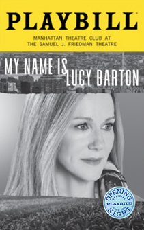 My Name Is Lucy Barton Limited Edition Official Opening Night Playbill