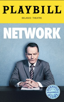 Network Limited Edition Official Opening Night Playbill