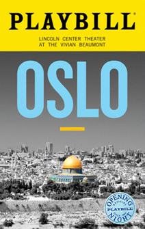 Oslo the Broadway Play Limited Edition Official Opening Night Playbill