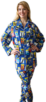 The Blue Playbill Pajamas For Women