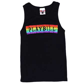 Playbill Pride 2019 Rainbow Brick Tank Top