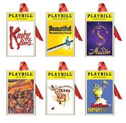 2018 Playbill Ornaments from the Broadway Cares Classic Collection - Set of Six