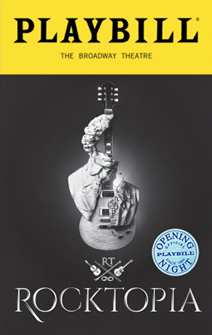 Rocktopia Limited Edition Official Opening Night Playbill