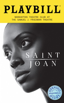 Saint Joan Limited Edition Official Opening Night Playbill 2018 Revival