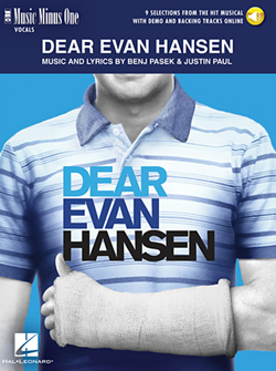 DEAR EVAN HANSEN-MUSIC MINUS ONE (BOOK/AUDIO) 9 SELECTIONS FROM MUSICAL