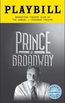 Prince of Broadway Limited Edition Official Opening Night Playbill