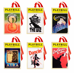 2017 Playbill Ornaments from the Broadway Cares Classic Collection - Set of Six
