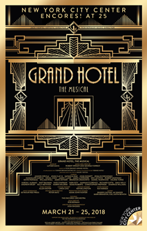 Grand Hotel the Musical Poster 2018 Encores