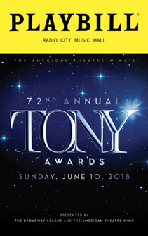 The 2018 Tony Awards Playbill