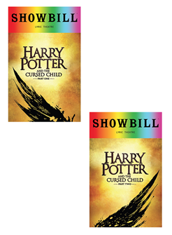 Harry Potter and the Cursed Child, Parts One and Two  - June 2018 Playbill with Rainbow Pride Logo